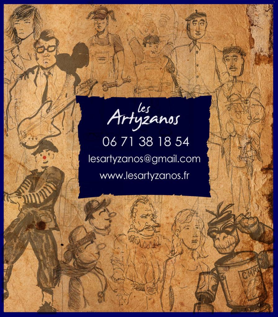 Contact - Carte de visite des Artyzanos